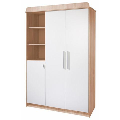 ROBA garderobekast Lena 3-deurs, ongeschaafd eiken/wit