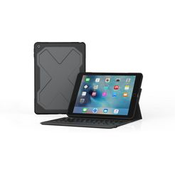 zagg tablethoes »rugged messenger keyboard voor ipad 2017 qwertz« zwart