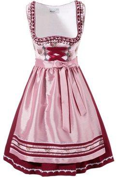 marjo korte dirndljurk met mooie rand roze