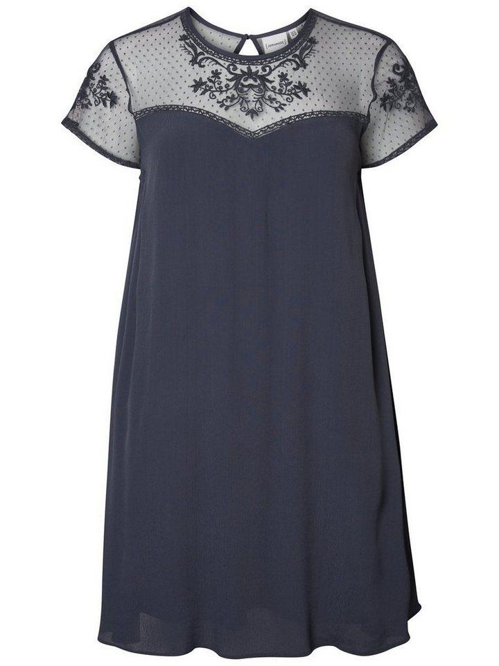 Junarose Gedessineerde jurk blauw