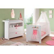 babymeubelset trend bed + commode (voordeelset, 2 stuks) wit