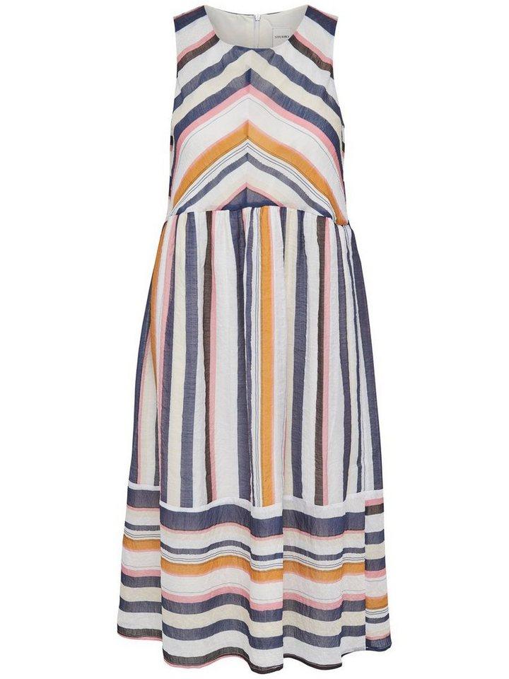 ONLY Gestreepte Mouwloze jurk multicolor
