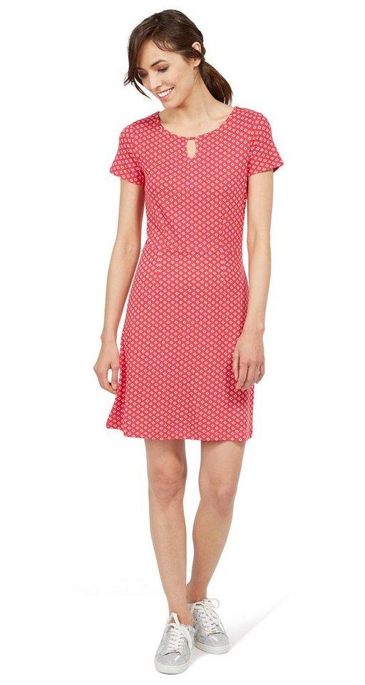 Tom Tailor jurk gemustertes Kleid aus jersey roze