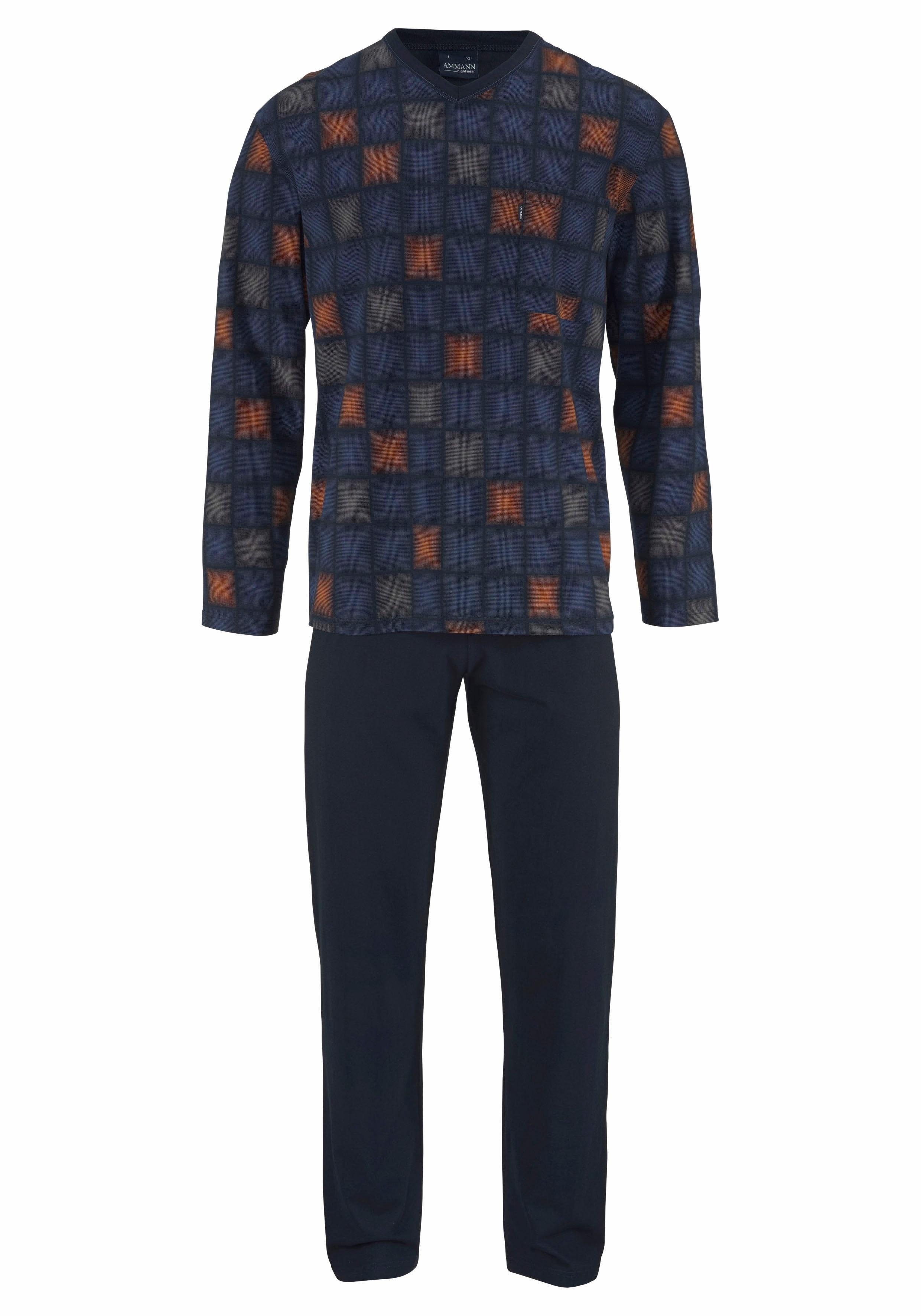 Ammann pyjama, lang, geruit bestellen: 14 dagen bedenktijd