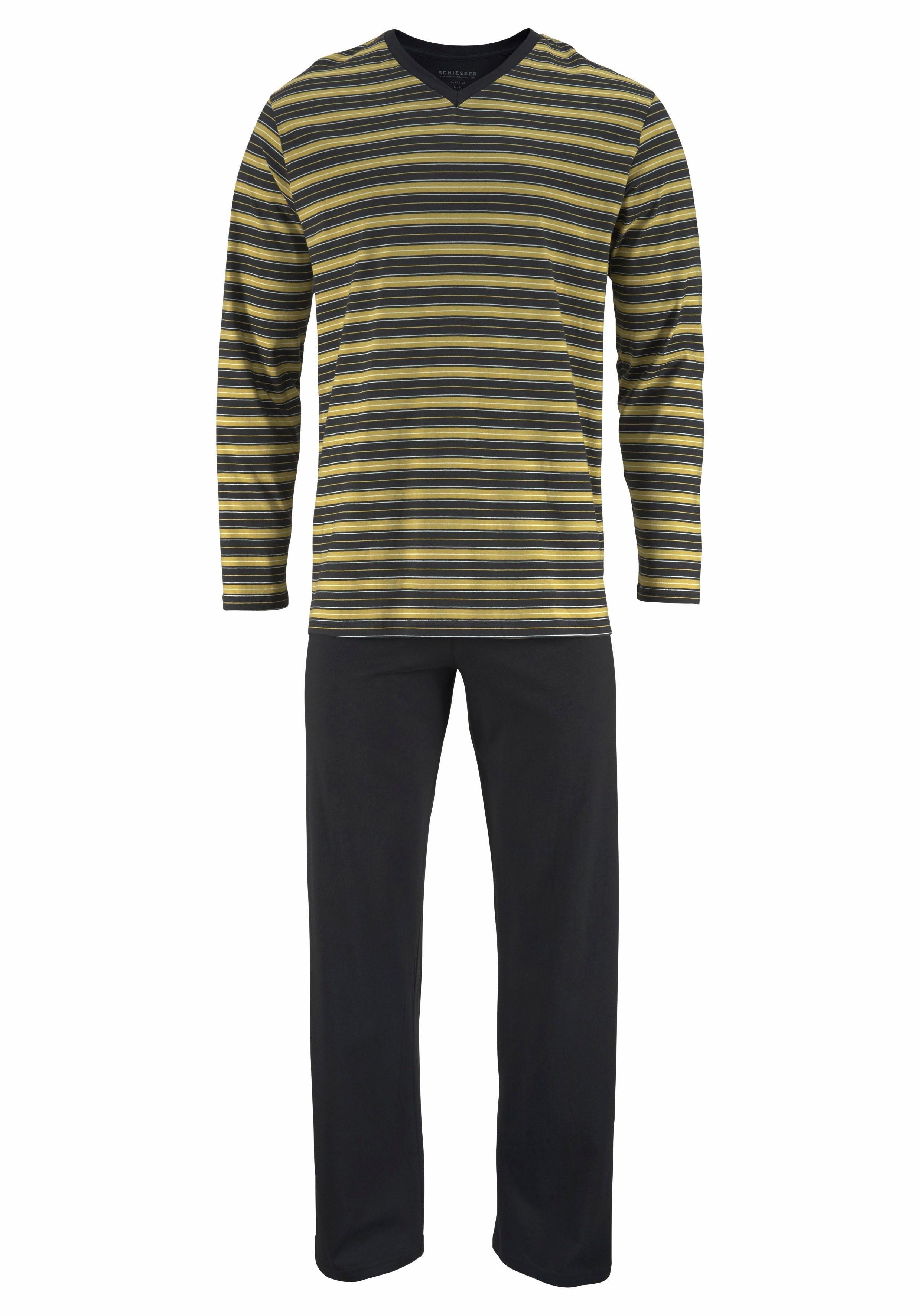 Schiesser gestreepte pyjama lang voordelig en veilig online kopen
