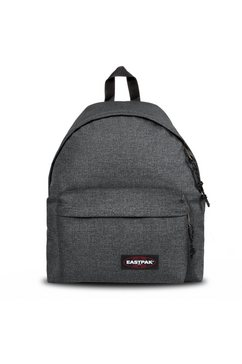 eastpak rugzak, »padded pak'r black denim« grijs