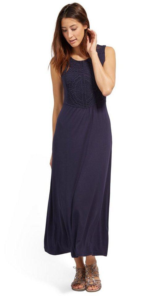 Tom Tailor jurk Maxi-jurk met kant blauw