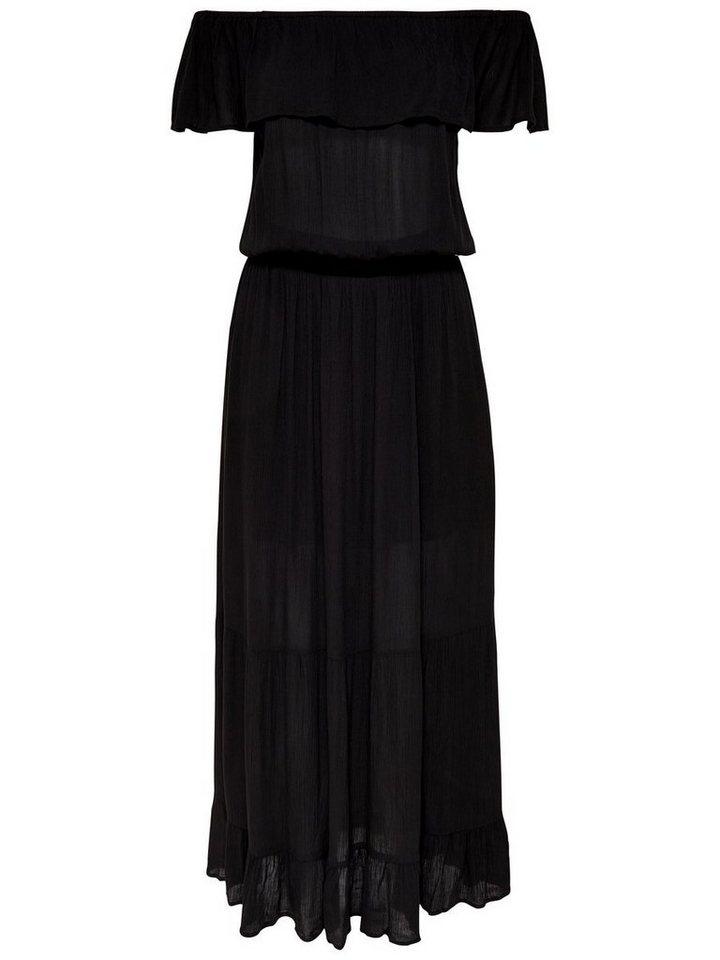 ONLY Off-shoulder Maxi jurk zwart