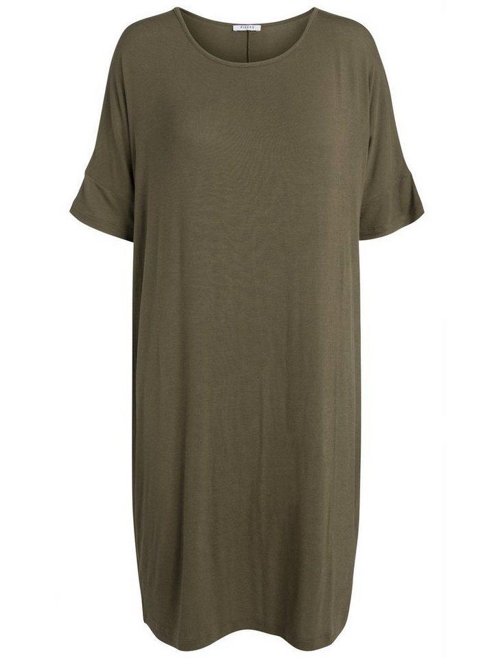 Pieces Oversized jurk groen
