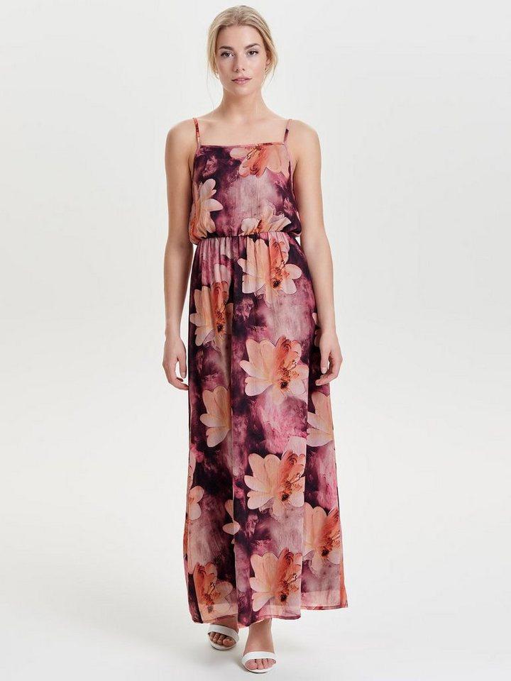 ONLY Bedrukte Midi jurk bruin