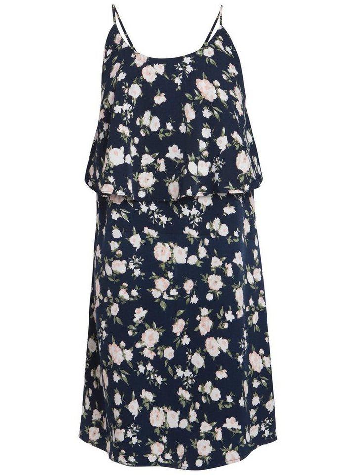 Pieces Bedrukte zomer jurk blauw