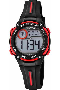 calypso watches chronograaf »digital crush, k6068-6« zwart