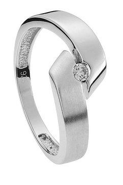 ring met swarovski-steen zilver