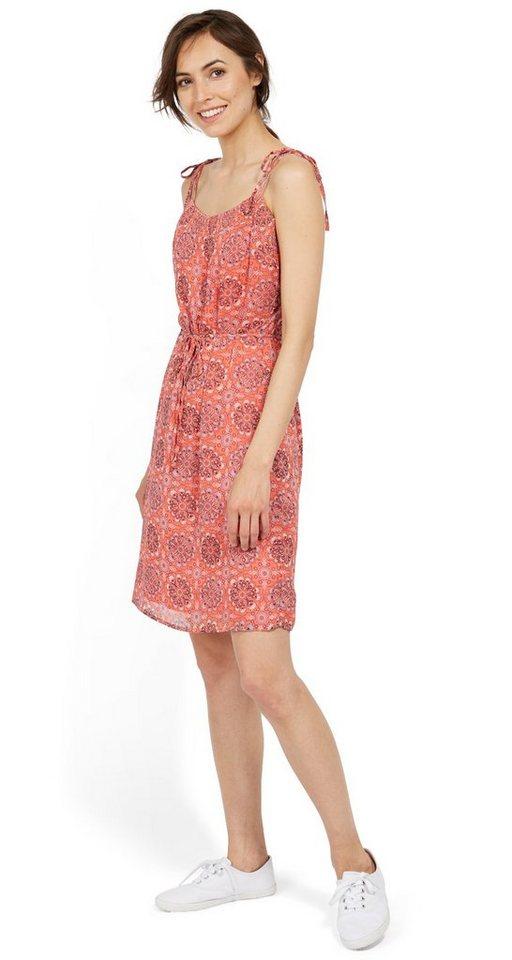 NU 21% KORTING: Tom Tailor jurk jurk met bindkoordje en motief oranje