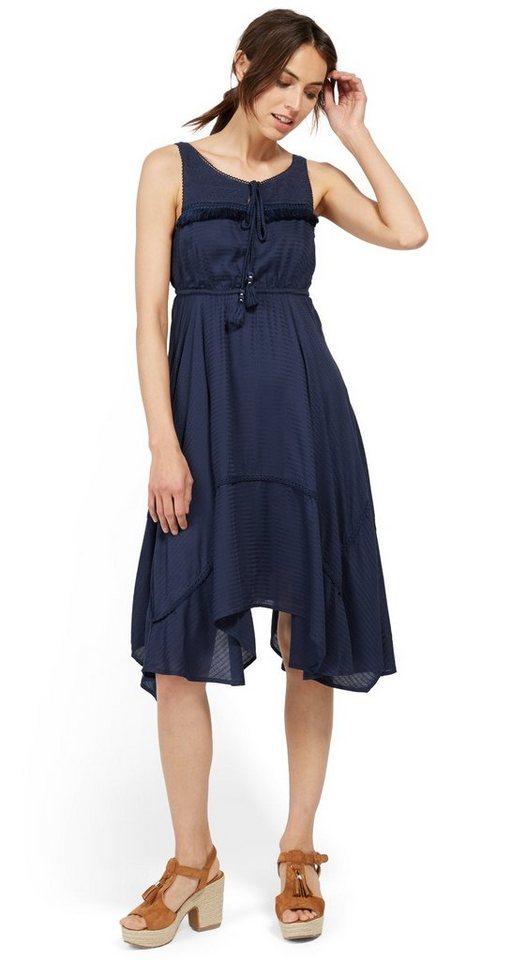 Tom Tailor jurk jurk met subtiel motief blauw