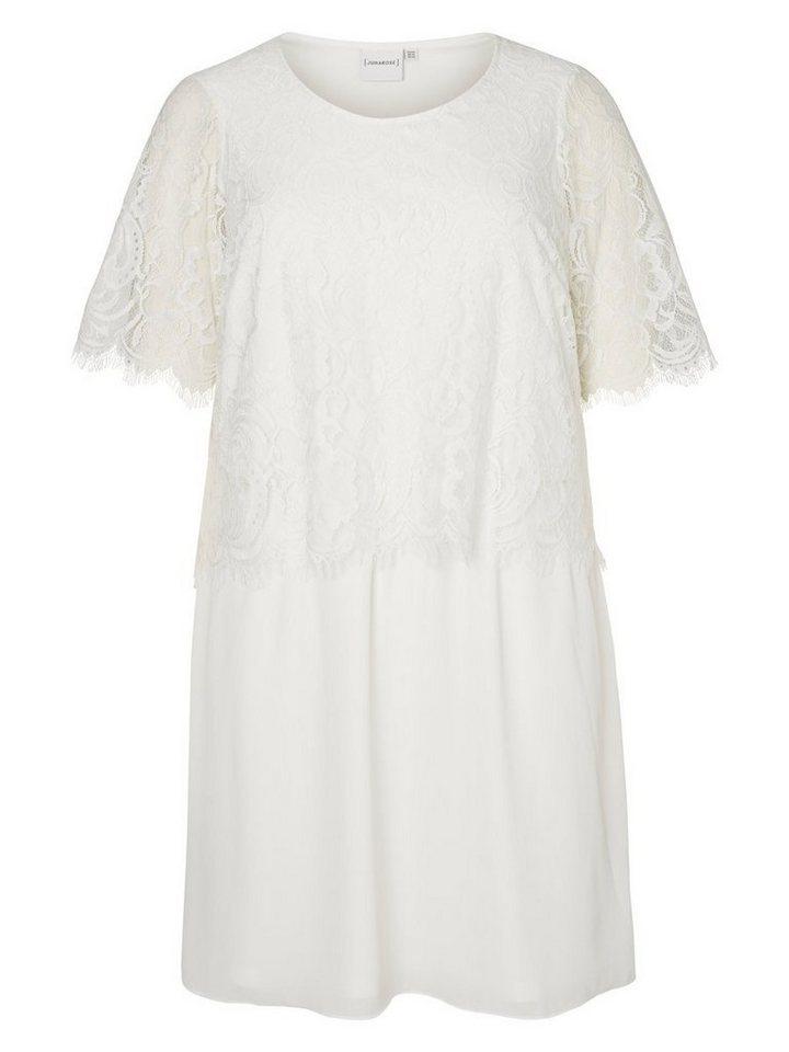 Junarose Kant gedetailleerde jurk wit