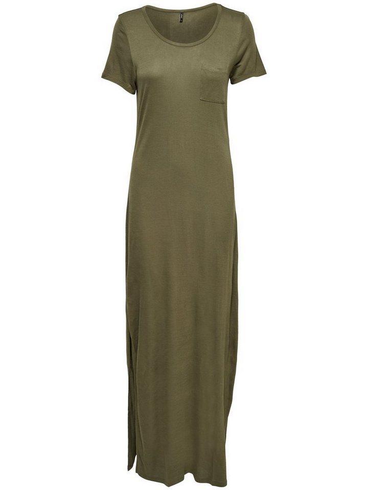 ONLY Korte mouw Maxi jurk groen