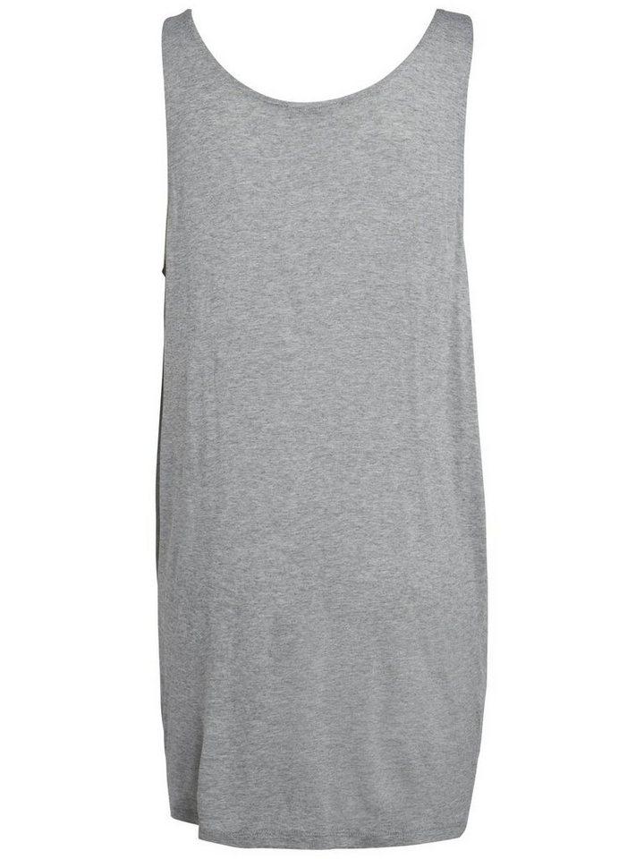 Pieces Basic jurk grijs