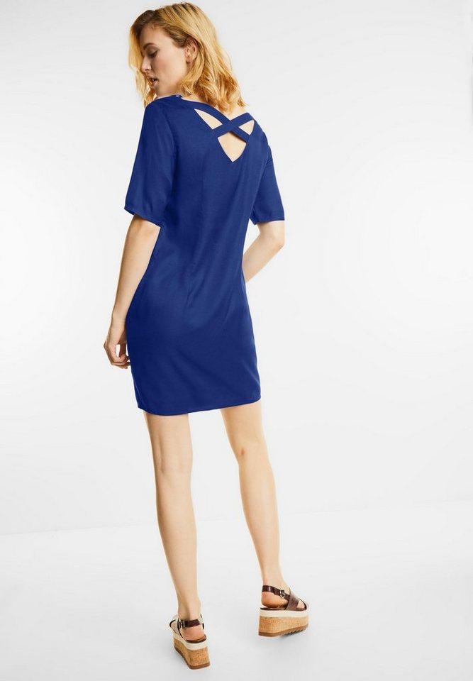 Street One jurk met bandjes Reilly blauw