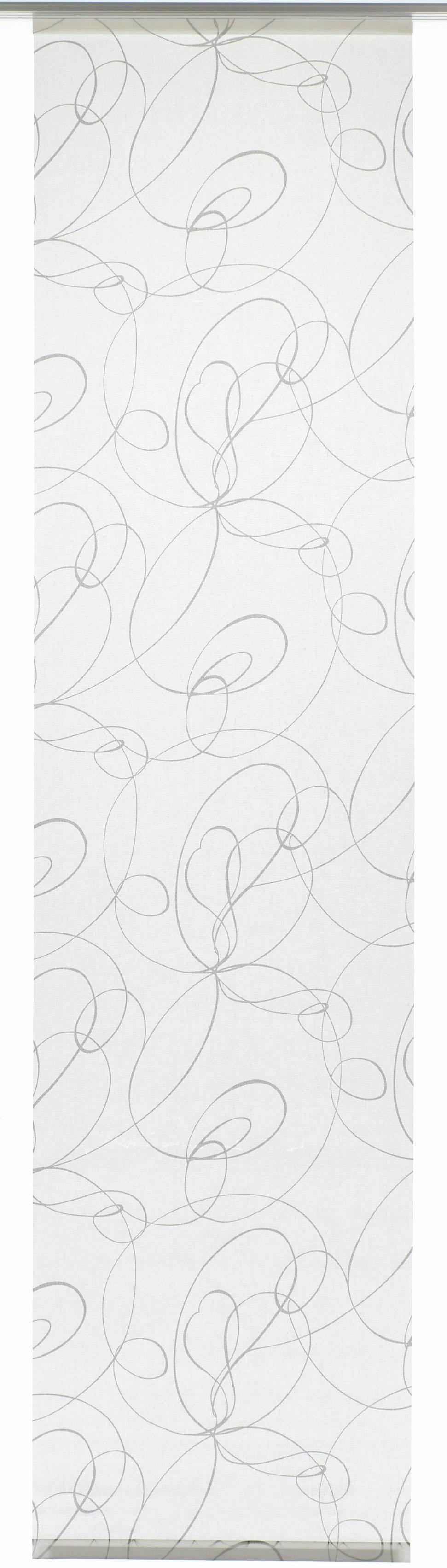 GARDINIA Paneelgordijn stof Curling met zilverkleurige rail HxB: 245x60 (1 stuk) nu online bestellen
