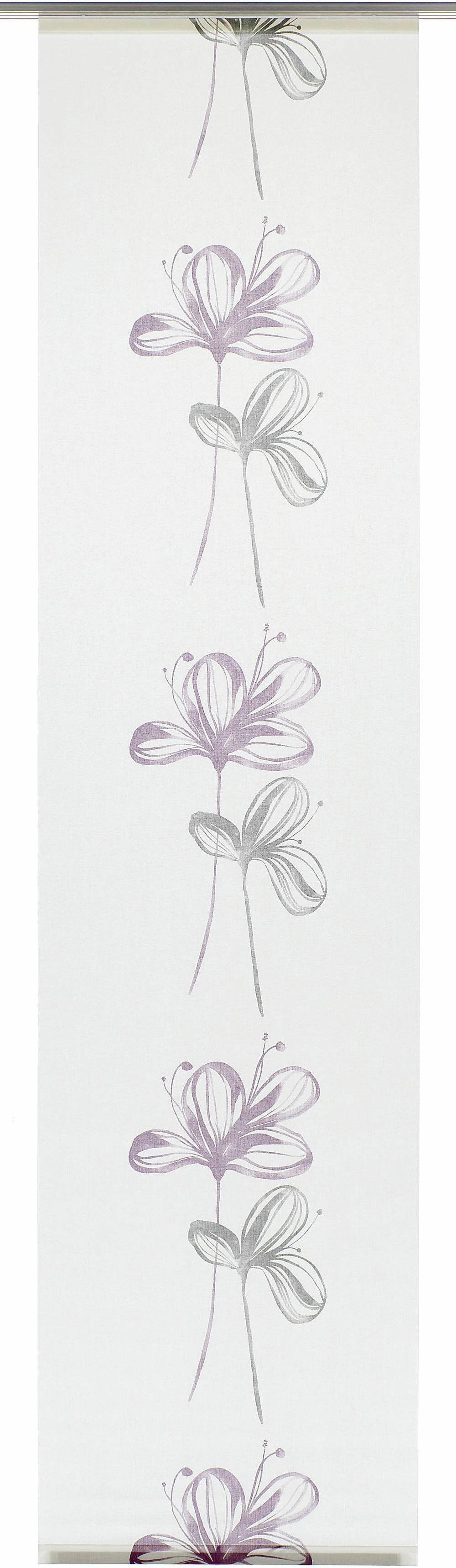 GARDINIA paneelgordijn stof Flower met wit railsysteem HxB: 245x60 (1 stuk) voordelig en veilig online kopen