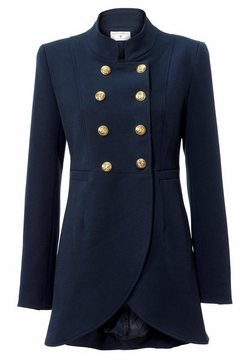 longline-blazer blauw