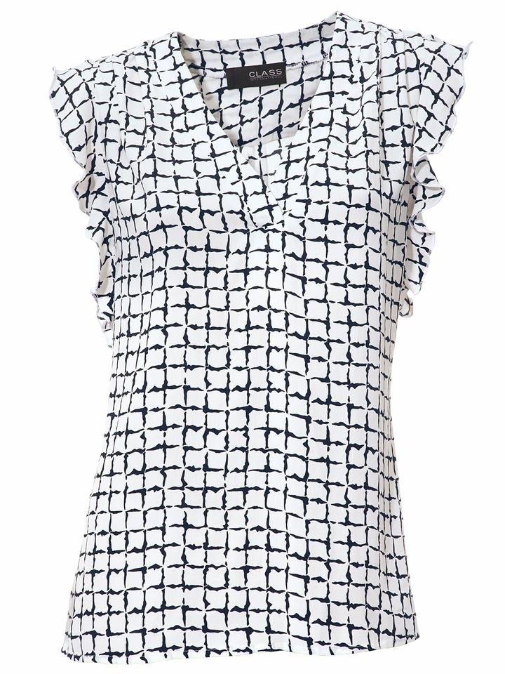 Heine Timeless Gedessineerde blouse nu online kopen bij OTTO