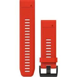 garmin reserve-verwisselbare armband »ersatzarmband quickfit silikon 26 mm« rood