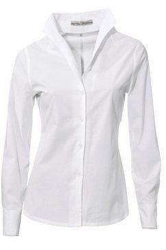 blouse met staande kraag beige