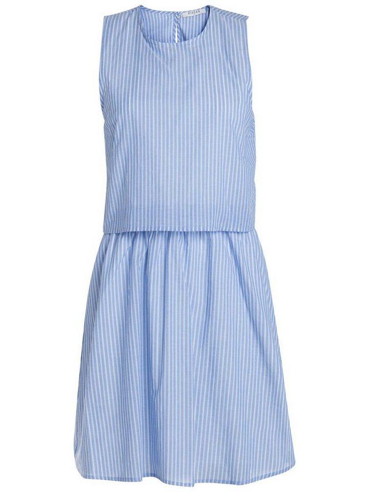 Pieces Gestreepte jurk blauw