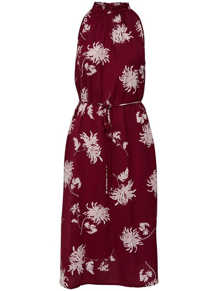 ONLY Lange Mouwloze jurk rood