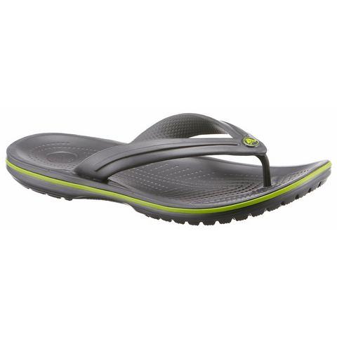 Crocs Flip Flops Graphite-Volt Green Crocband