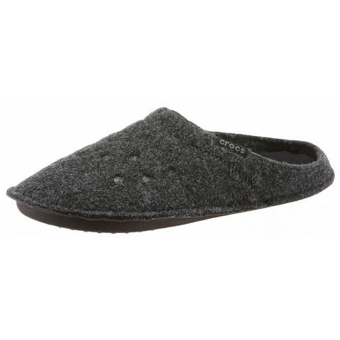 Crocs Slipper Unisex Black-Black Classic Slipper