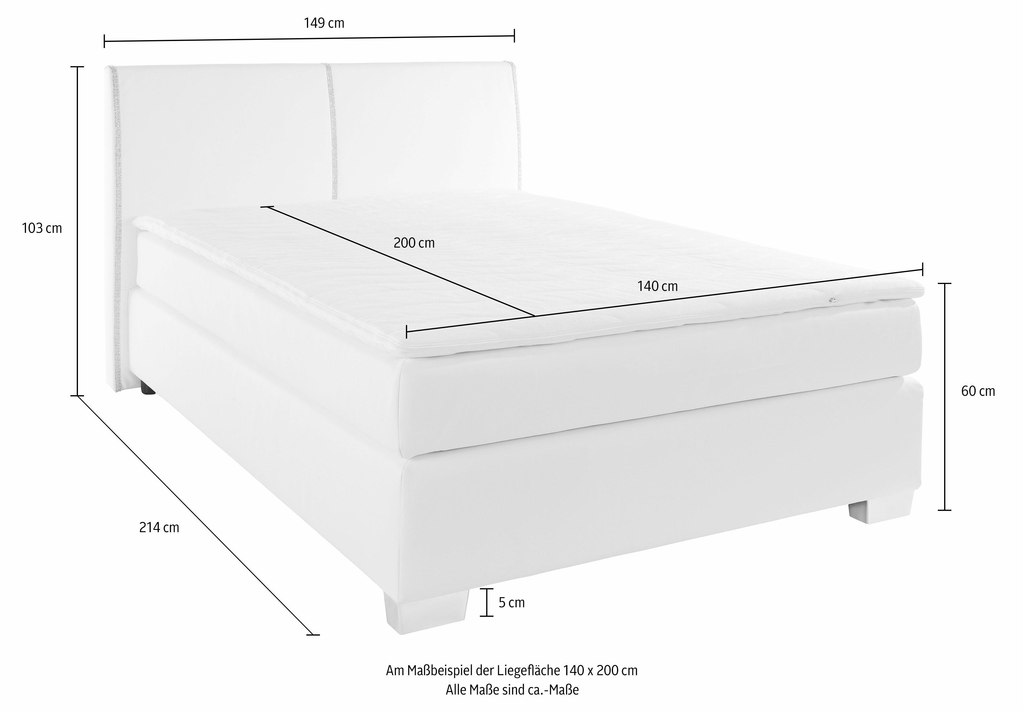 boxspring incl topper wit