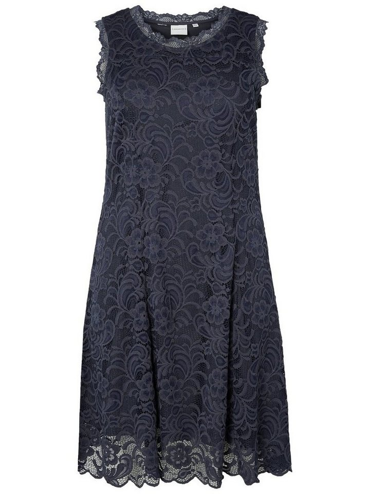Junarose kanten jurk met korte mouwen blauw