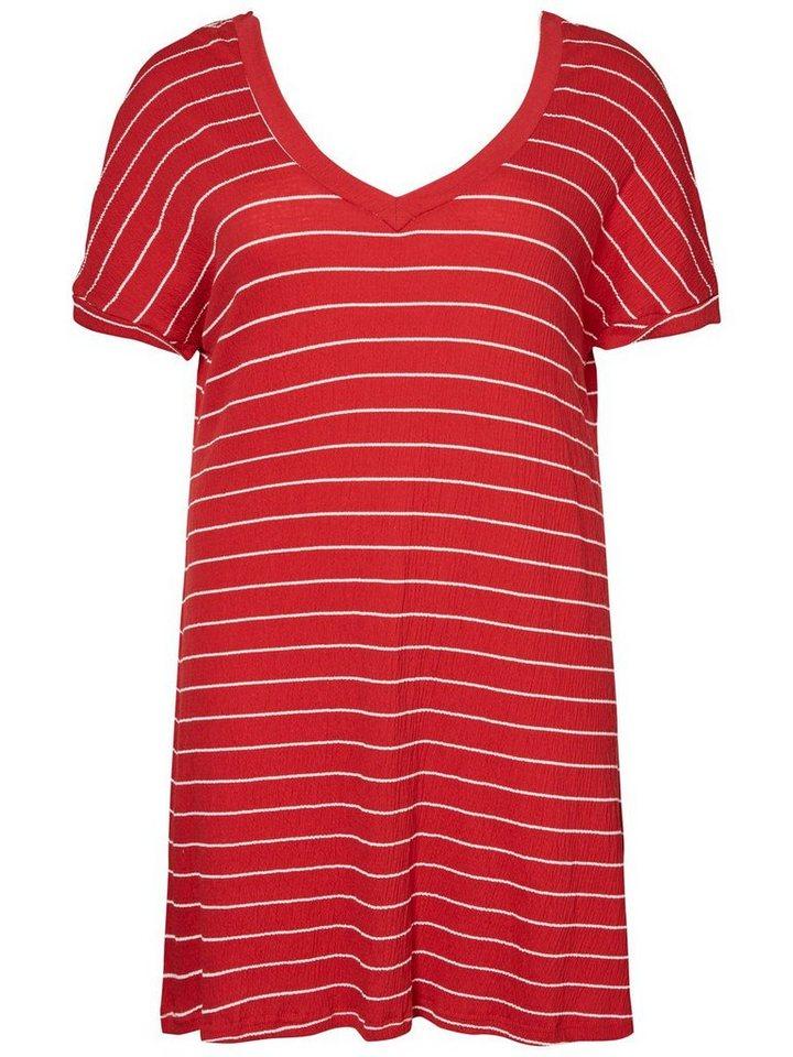 Junarose Gestreepte jurk rood