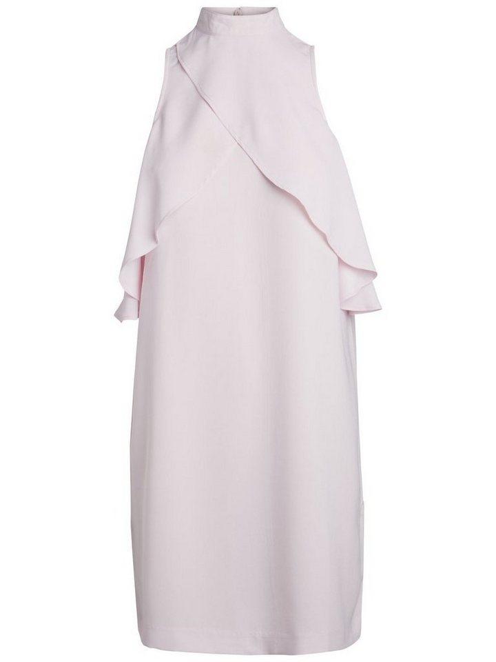 Pieces Klassieke ruche jurk roze
