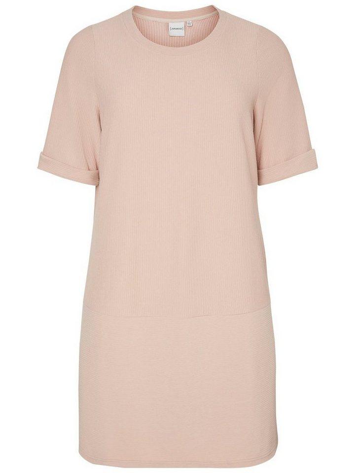 Junarose 2/4-mouw jurk roze