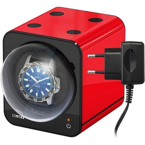 Beco Boxy Fancy Brick Red Watchwinder plus Adapter