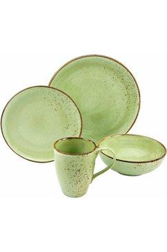 servies, aardewerk, 4-delig, natuurgroen, »NATURE COLLECTION«