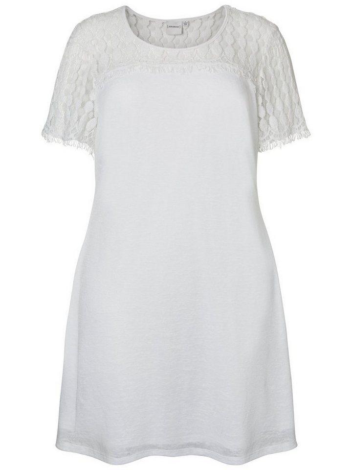 Junarose kanten jurk met korte mouwen wit