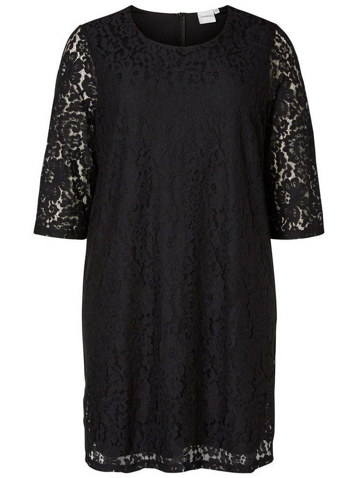 Junarose 3/4-mouw jurk zwart