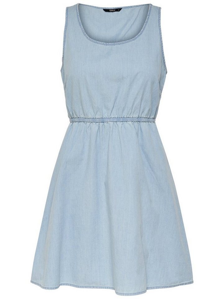 ONLY Effen Mouwloze jurk blauw