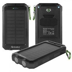 fontastic solar powerbank »ksora 8.0 (8000mah)« zwart