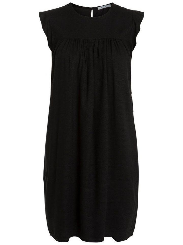 Pieces Korte mouw jurk zwart