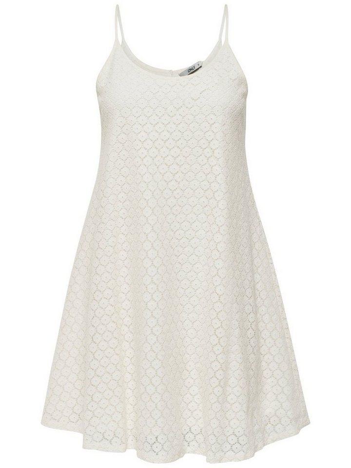 ONLY Loose fit Mouwloze jurk wit