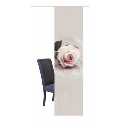 Home Wohnideen Paneelgordijn, Home Wohnideen, ROSY, met klittenband (1 stuk met accessoires)