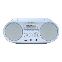sony boombox zs-ps50 cd-speler, front-usb, mp-3 blauw