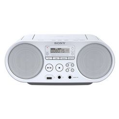 sony boombox zs-ps50 cd-speler, front-usb, mp-3 wit
