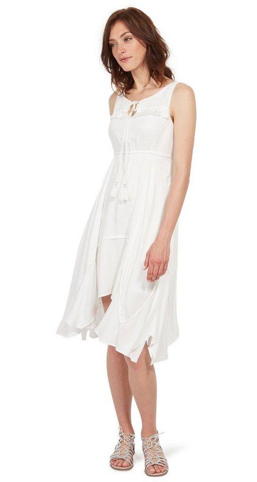 Tom Tailor jurk jurk met subtiel motief wit